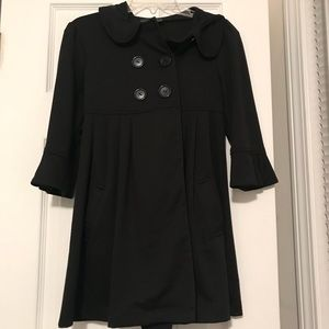 Girls swing dress coat